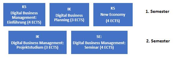 Übersicht Schwerpunkt Digital Business Management